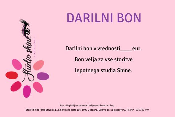 Studio shine darilni bon